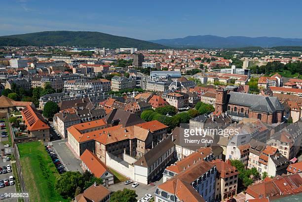 overview from citadel of belfort town - ベルフォール ストックフォトと画像