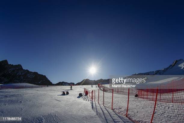 Overview in the second run of the Audi FIS Alpine Ski World Cup - Men's Giant Slalom at Rettenbachferner on October 27, 2019 in Soelden, Austria.