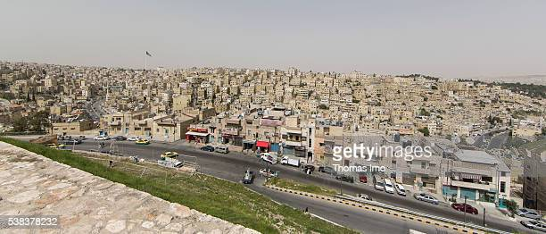 Overview of a district of Amman on April 08 2016 in Amman Jordan