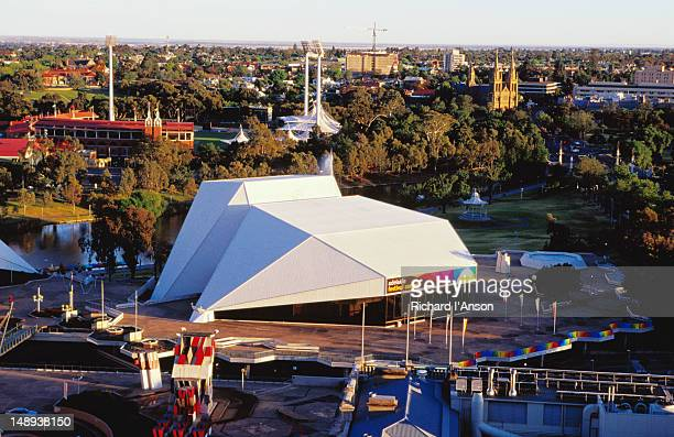 Overview of Adelaide Festival Centre, Adelaide Oval and ST Peter's Cathedral.