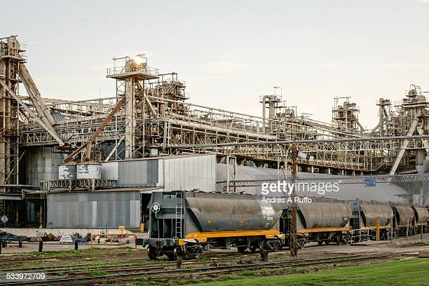 Overview of AGD Oil General Deheza plant in the city of General Deheza Province of Cordoba Argentina on Thursday morning October 16 2014