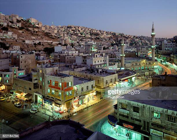 overview of amman, jordan. - hugh sitton stock pictures, royalty-free photos & images