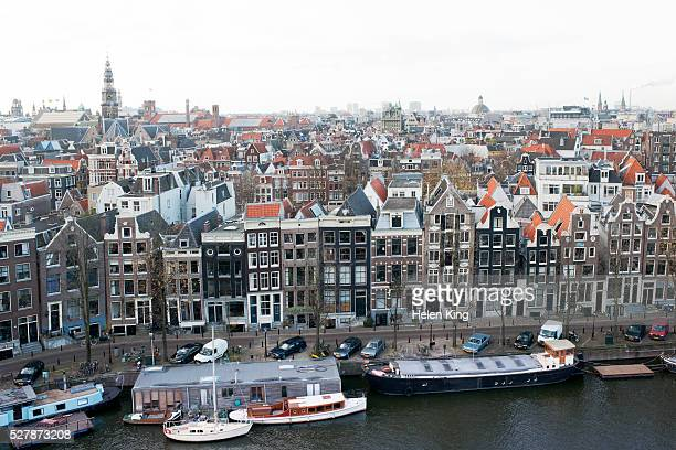 Overview of an Amsterdam skyline