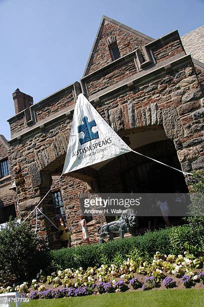 Overview of Autism Speaks' banner hanging at the Ninth Annual N.Y. Celebrity Golf Challenge on June 18, 2007 in Mamaroneck, New York.