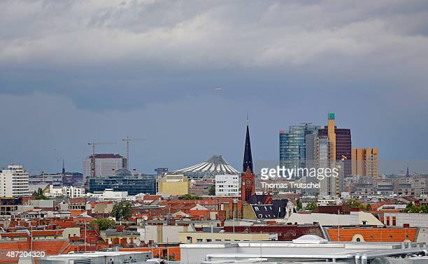 Overview of Berlin City with Berlin Potsdamer Platz on September 05 2015 in Berlin Germany