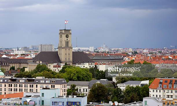 Overview of Berlin City with town hall Schoeneberg on September 05 2015 in Berlin Germany