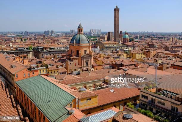 overview of bologna, emilia-romagna, italy