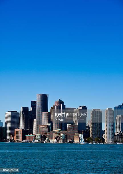 Overview of Boston city skyline