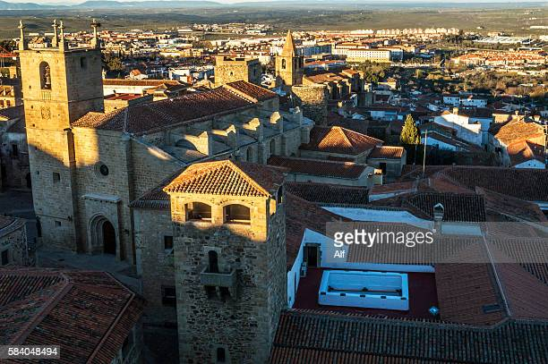 Overview of Caceres old town