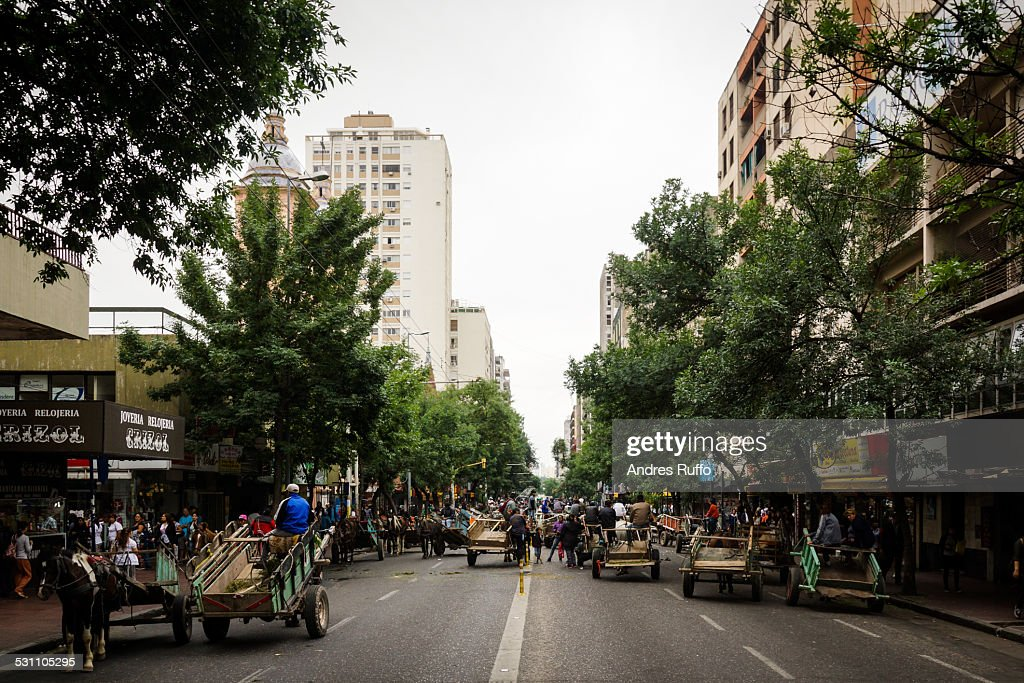 Overview of central street in the city of Córdoba : Stock Photo