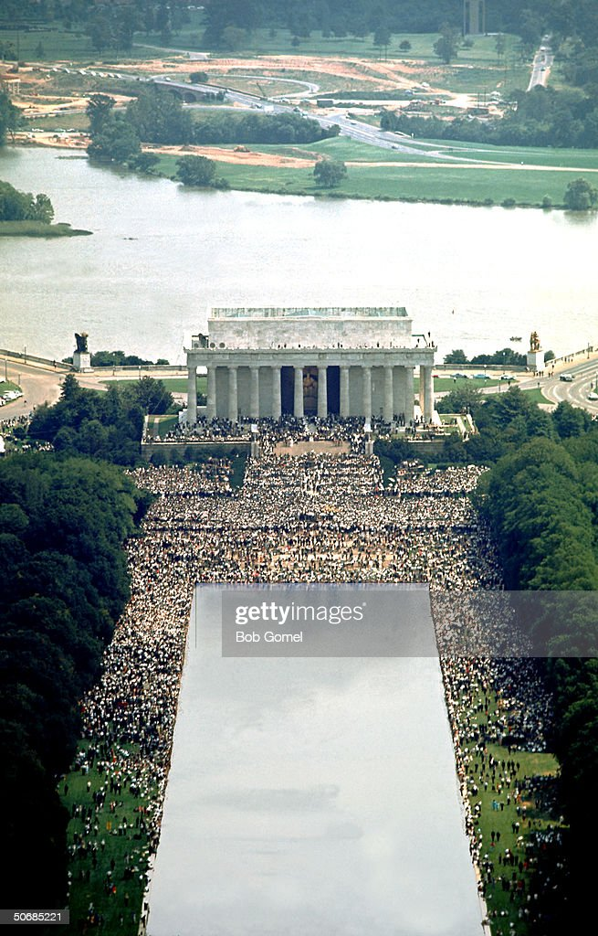 Aerial Of Washington DC March : News Photo
