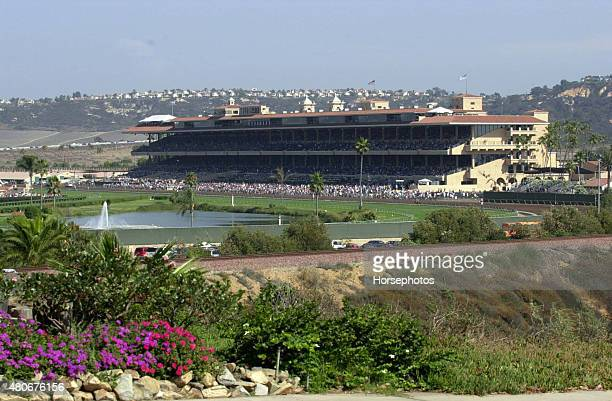 Overview of Del Mar Race Track grandstand August 11 2004
