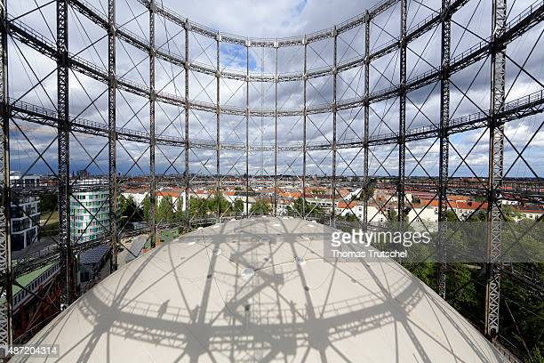 Overview of Gasometer on September 05 2015 in Berlin Germany