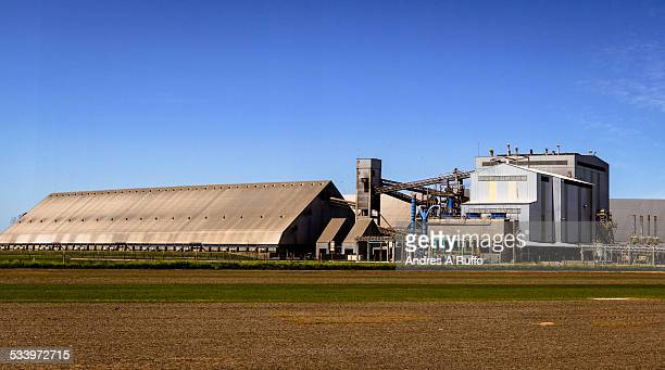 Overview of grain bins General Oil Deheza manufacturing plant in the city of General Deheza Province of Cordoba Argentina on Thursday morning October...