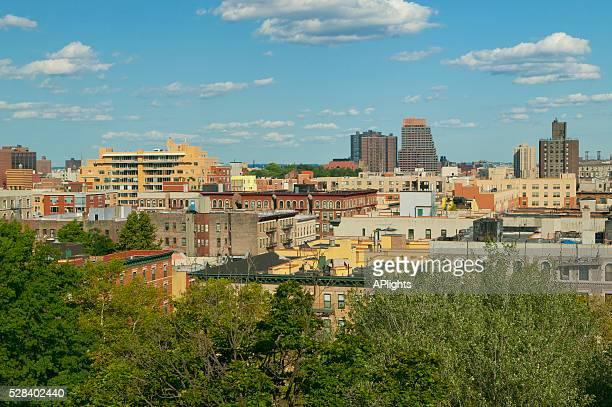 Overview Of Harlem Neighborhood; New York City New York United States Of America