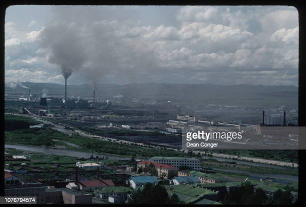 Overview of Industrial Area and Smoke Mongolia