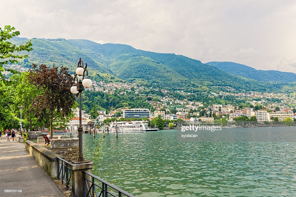 Overview of Locarno : Stock Photo