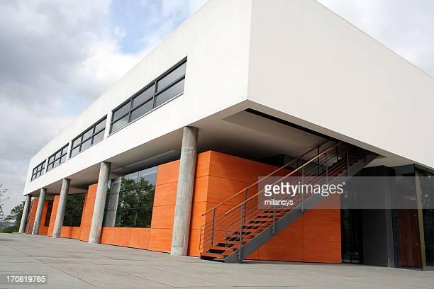 Overview of modern Bauhaus building