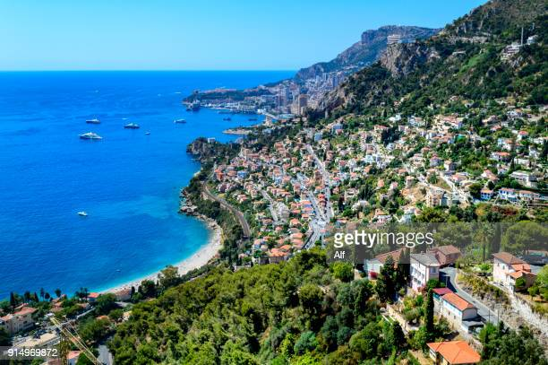 Overview of Monaco from Roquebrune-Cap-Martin, Provence, France