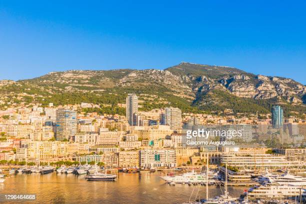 overview of montecarlo, monaco, france - monaco stock pictures, royalty-free photos & images