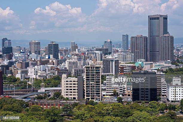 Overview of Osaka's Chuo Ward skyline