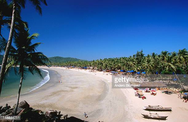 Overview of Palolem Beach in South Goa.