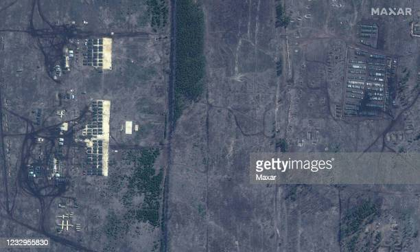 Overview of pogorovo training area near voronezh russia. Please use: Satellite image 2021 Maxar Technologies.