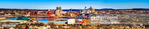 overview of saint-john city - paisajes de st johns fotografías e imágenes de stock