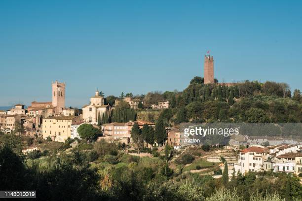 Overview of San Miniato with Federico's tower and Cathedral.