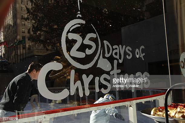 Overview of the ABC Family 25 Days Of Christmas logo is seen at the Winter Wonderland Event on December 3 2006 in New York City