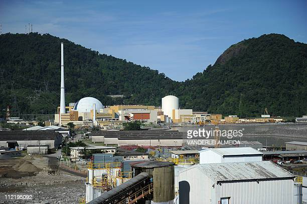 Overview of the Angra 2 nuclear plant and 1 in Angra dos Reis 240 km south of Rio de Janeiro Brazil on April 14 2011 The new Angra 3 is scheduled to...
