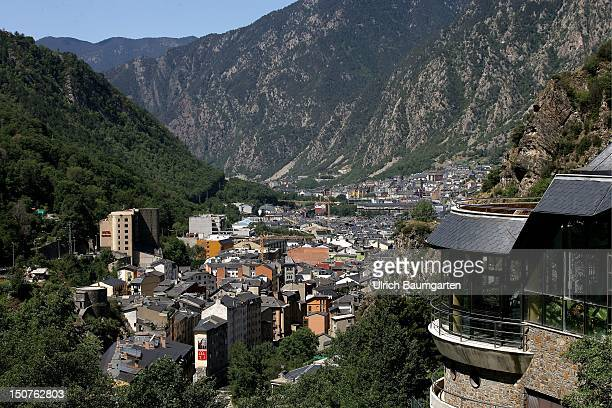 Overview of the capital city of Andorra