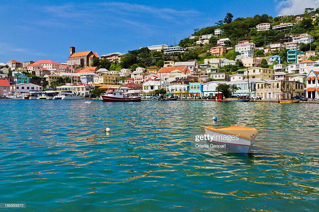 Overview of The Carenage, St. Georges, Grenada W.I : Stock Photo