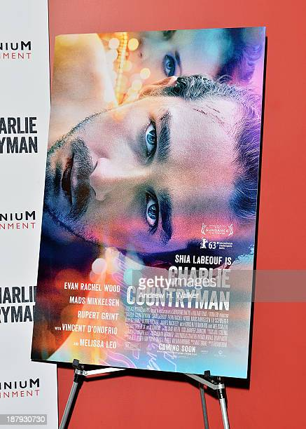 Overview of the 'Charlie Countryman' movie poster during the 'Charlie Countryman' screening at Sunshine Landmark on November 13 2013 in New York City
