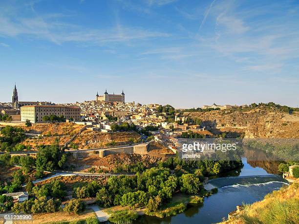Overview of the city of Toledo and the Tajo River that surrounds the city