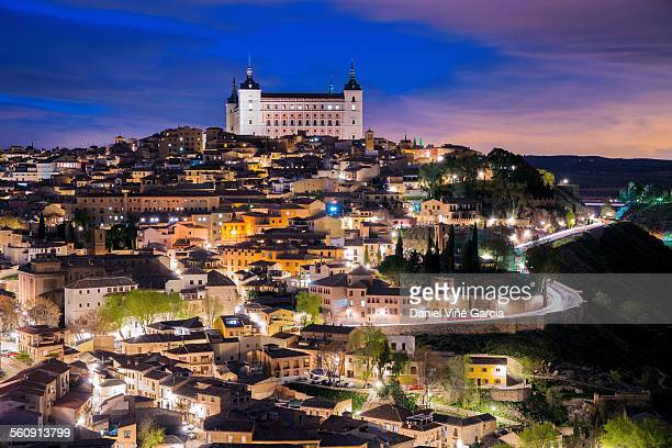overview of the city of toledo in spain - トレド ストックフォトと画像