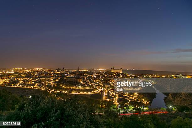 Overview of the city of Toledo with Sunrise, Spain.
