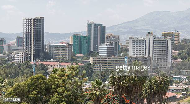 Overview of the City on October 12 2015 in Addis Abeba Ethiopia