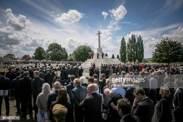 Overview of the Commemoration Ceremony of the Battle of Passchendaele on July 31 2017 in Passchendaele Belgium One hundred years ago the Battle of...