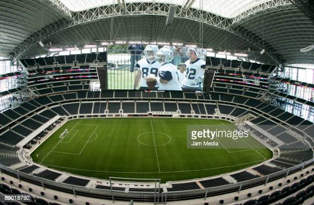 Overview of the Dallas Cowboys Stadium on July 13 2009 in Dallas Texas The stadium will attend the CONCACAF Gold Cup Quarterfinals match between...