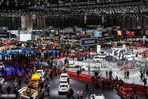 Overview of the expo during the second press day of the Geneva Motor Show 2017 at the Geneva Palexpo on March 8, 2017 in Geneva, Switzerland.