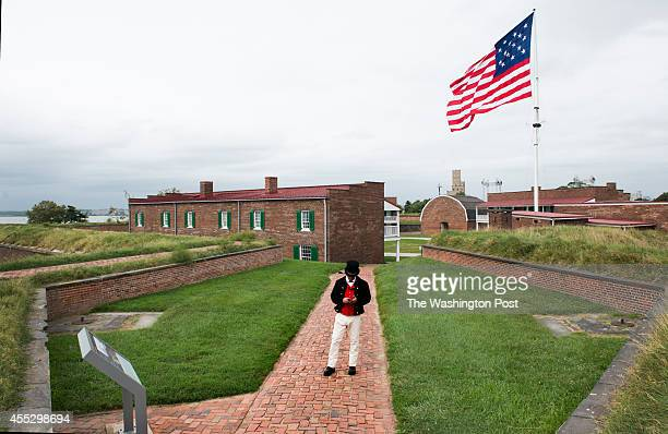 Overview of the grounds of Fort McHenry the location of celebrations this week of the 200th anniversary of the StarSpangled Banner in Baltimore MD on...