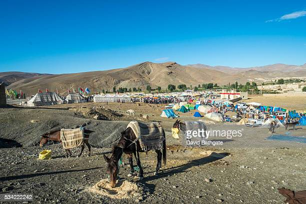 Overview of the Marriage and Betrothal Festival grounds in Imilchil Morocco