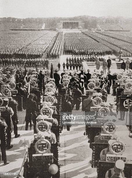 Overview Of The Mass Roll Call Of Sa Ss And Nskk Troops At The 1935 Nazi Party Day Luitpold Arena Nuremberg Germany From I Knew Hitler By Kurt GW...