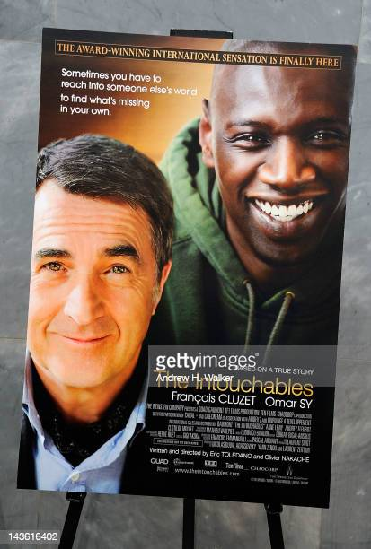 Overview of the movie poster at a screening of The Intouchables at The Paley Center for Media on April 30 2012 in New York City
