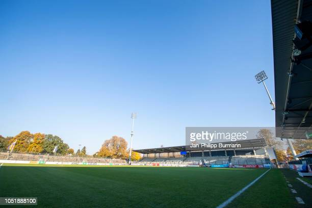 Overview of the pitch at the KarlLiebknechtStadion before the game between Hertha BSC and the SV Babelsberg 03 on October 11 2018 in Berlin Germany