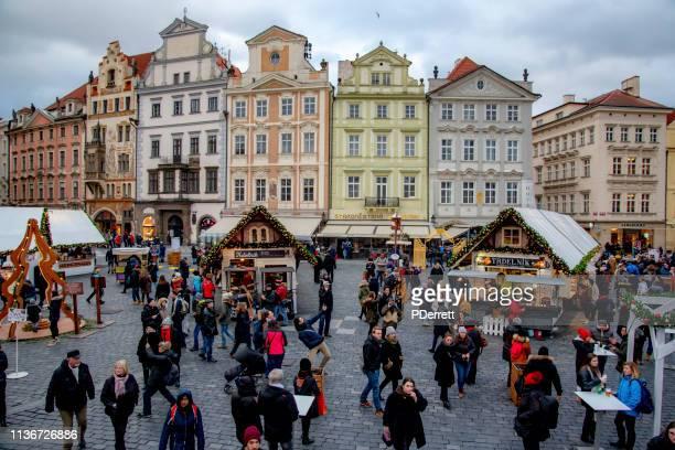 プラハのクリスマスマーケットの概要。