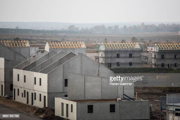 Overview of the urban agglomeration on October 26 2017 in Schnoeggersburg Germany The urban agglomeration called 'Schnoeggersburg' is being built for...
