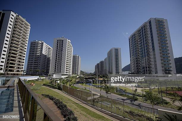 Overview of the Village during the event where the Mayor Eduardo Paes Delivery the Athletes Village to the Rio 2016 Committee on June 15 2016 in Rio...