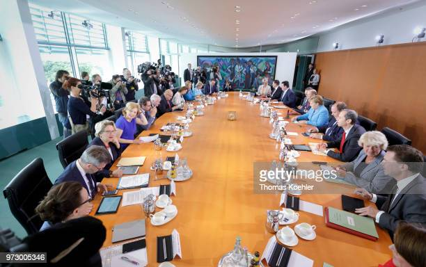 Overview of the Weekly Government Cabinet Meeting on June 13 2018 in Berlin Germany